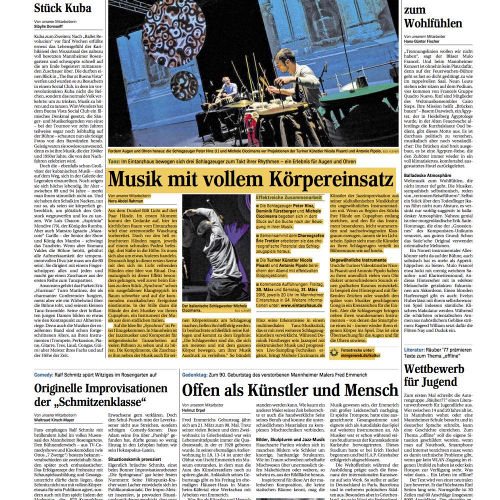 Mannheimer Morgen critic 20.03.2018